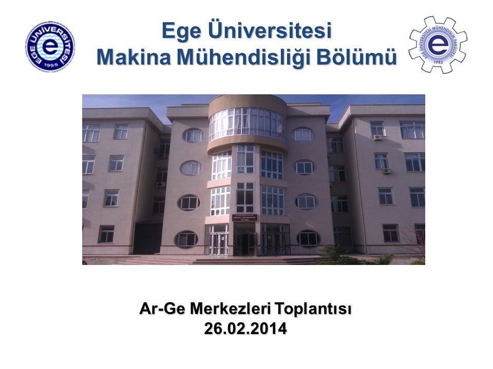Ege Üniversitesi Makina Mühendisliği Bölümü