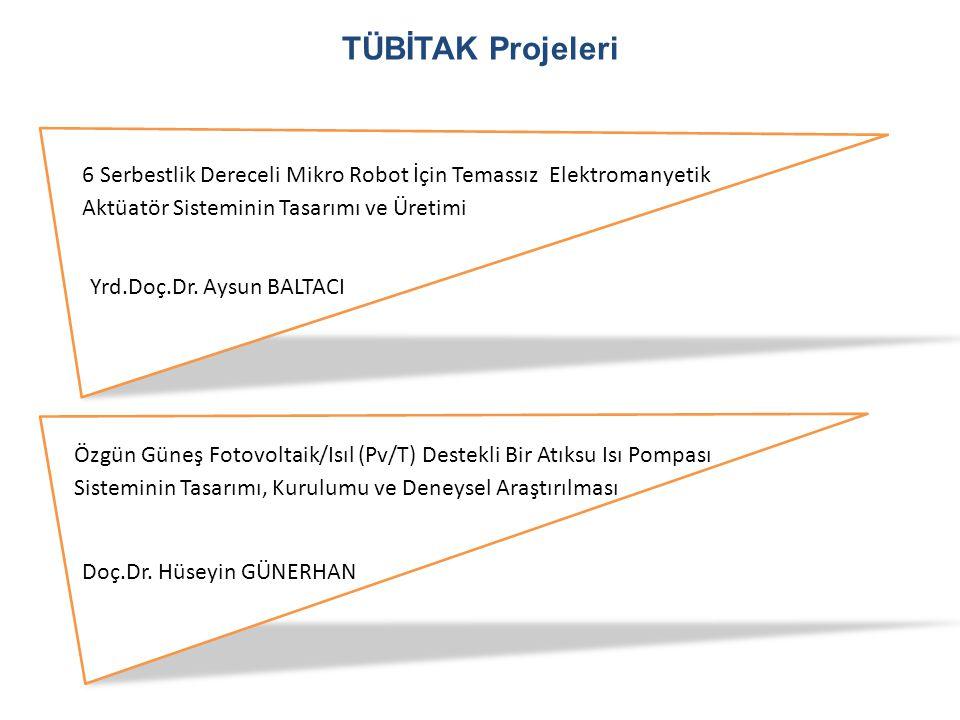TÜBİTAK Projeleri 6 Serbestlik Dereceli Mikro Robot İçin Temassız Elektromanyetik Aktüatör Sisteminin Tasarımı ve Üretimi.