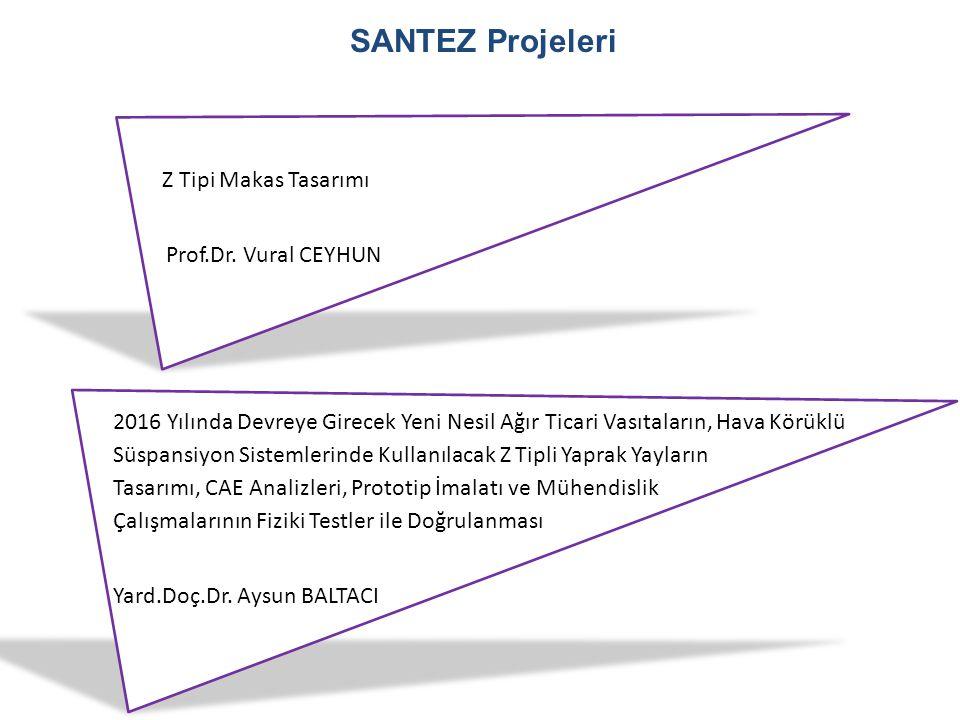 SANTEZ Projeleri Z Tipi Makas Tasarımı Prof.Dr. Vural CEYHUN