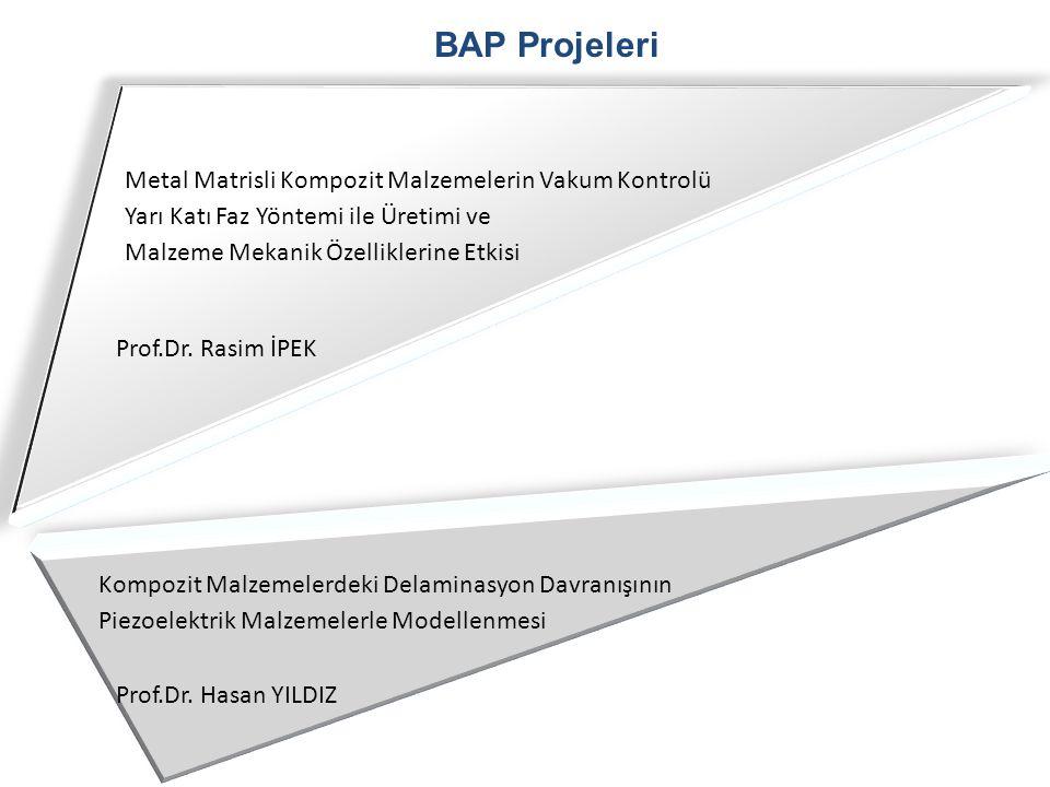 BAP Projeleri Metal Matrisli Kompozit Malzemelerin Vakum Kontrolü
