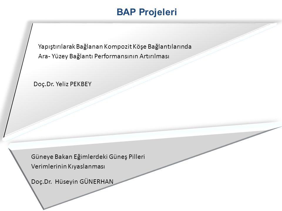 BAP Projeleri Yapıştırılarak Bağlanan Kompozit Köşe Bağlantılarında