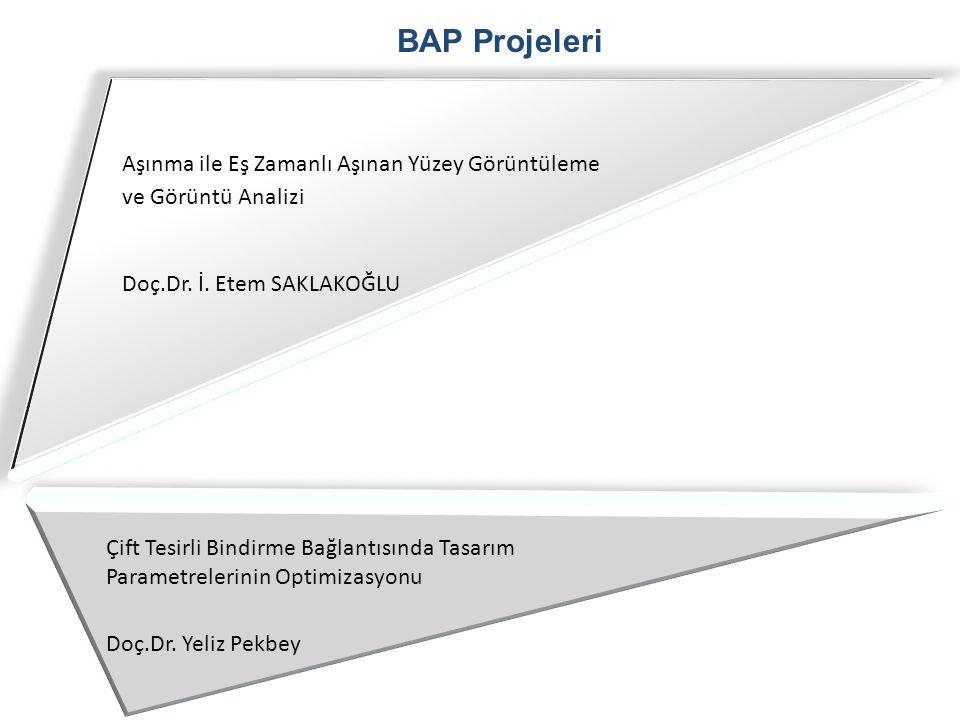 BAP Projeleri Aşınma ile Eş Zamanlı Aşınan Yüzey Görüntüleme