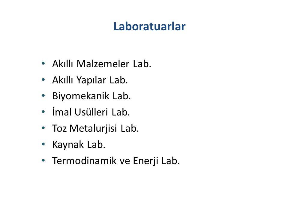 Laboratuarlar Akıllı Malzemeler Lab. Akıllı Yapılar Lab.