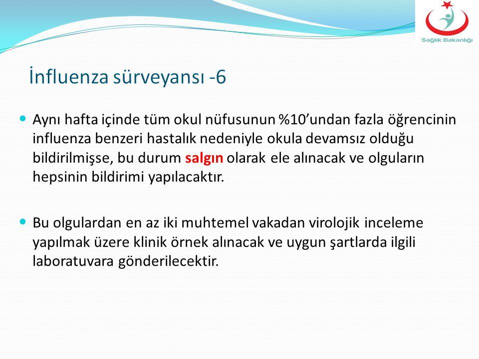 İnfluenza sürveyansı -6