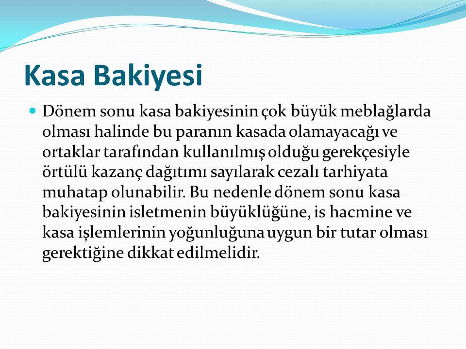 Kasa Bakiyesi