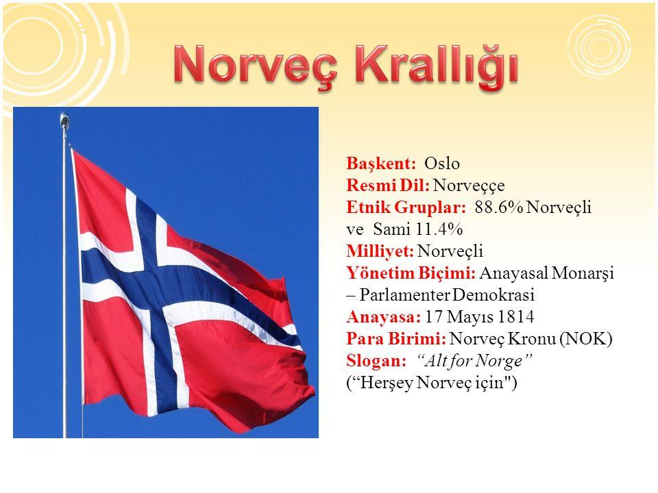 Norveç Krallığı Başkent: Oslo Resmi Dil: Norveççe