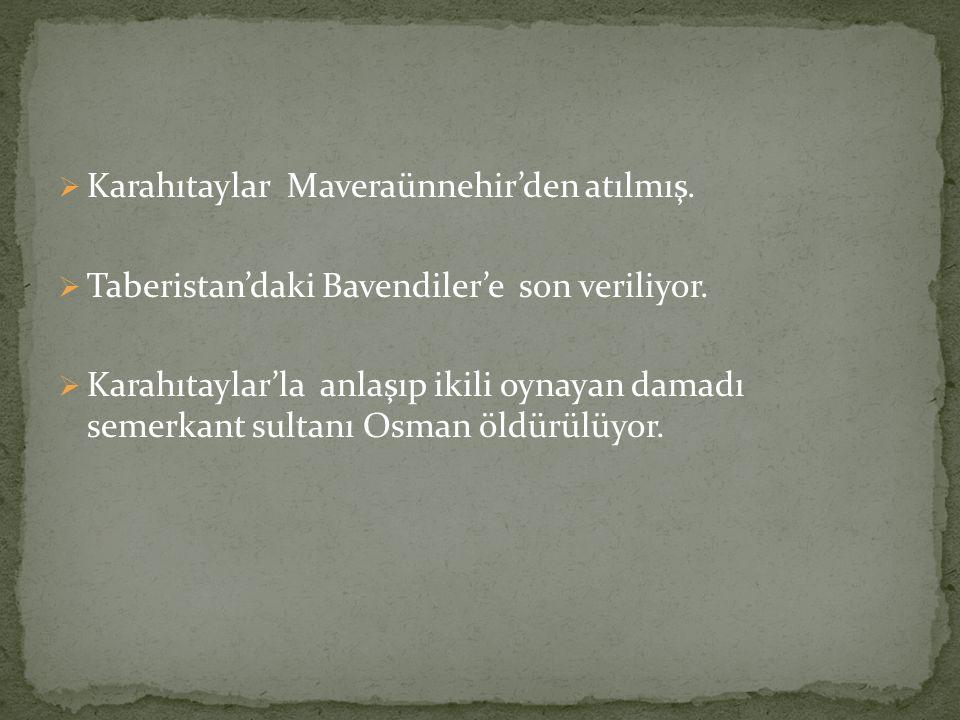 Karahıtaylar Maveraünnehir'den atılmış.
