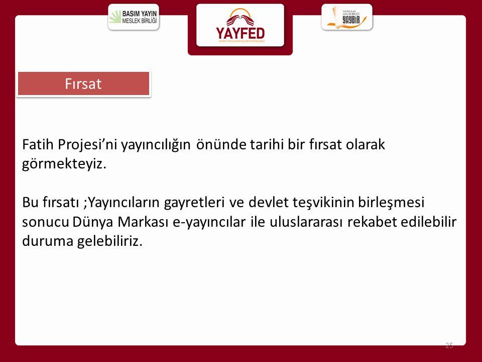 Fırsat Fatih Projesi'ni yayıncılığın önünde tarihi bir fırsat olarak görmekteyiz.