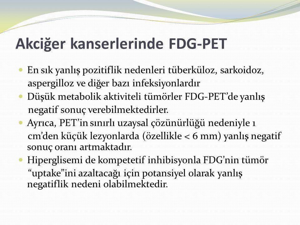 Akciğer kanserlerinde FDG-PET