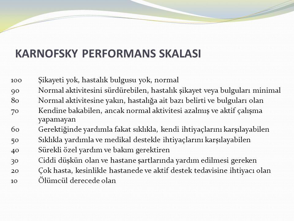 KARNOFSKY PERFORMANS SKALASI
