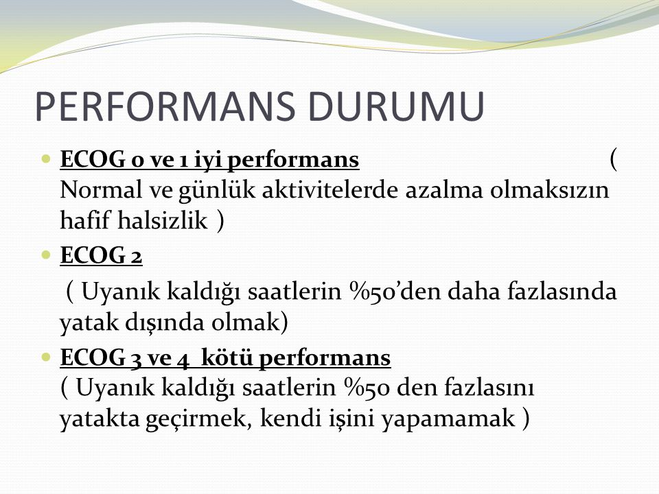 PERFORMANS DURUMU