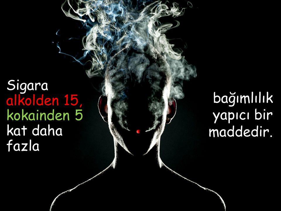 Sigara alkolden 15, kokainden 5 kat daha fazla