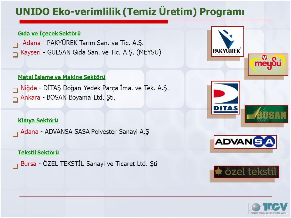 UNIDO Eko-verimlilik (Temiz Üretim) Programı
