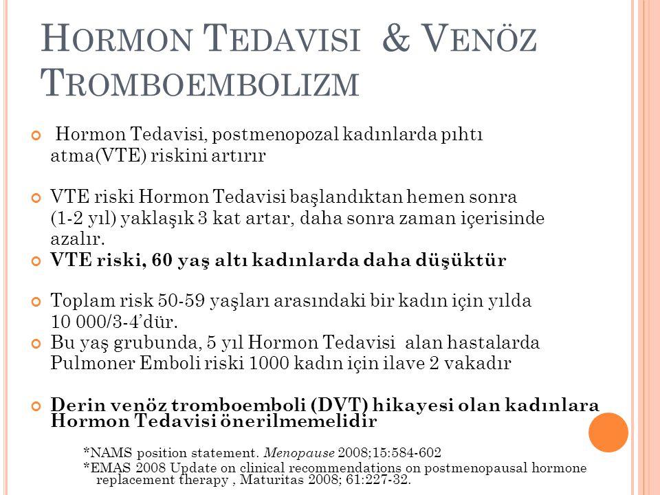 Hormon Tedavisi & Venöz Tromboembolizm