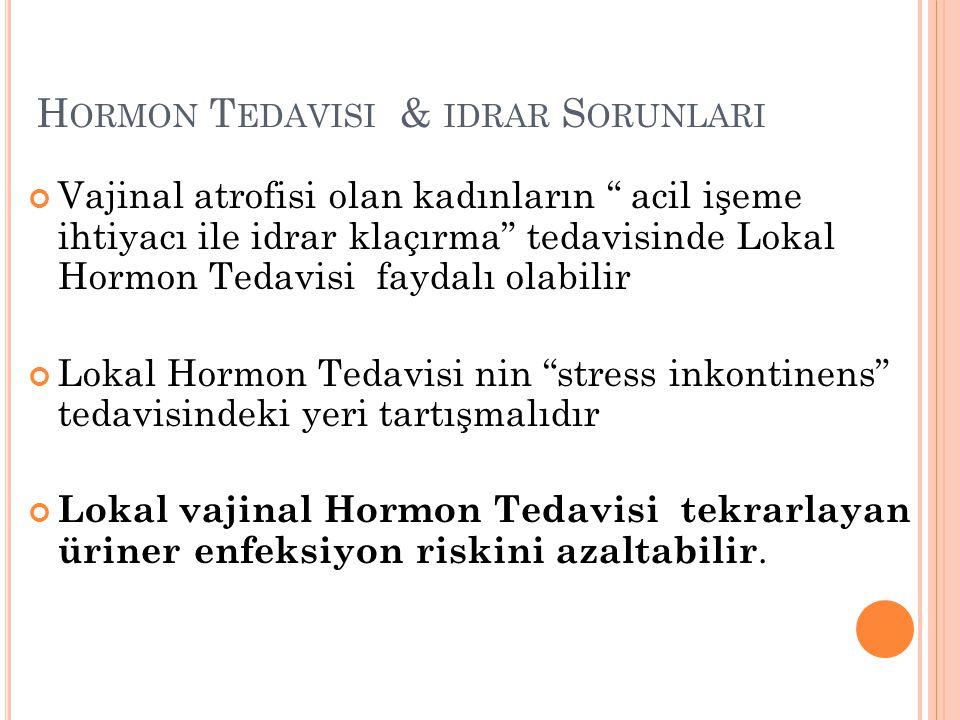 Hormon Tedavisi & idrar Sorunlari