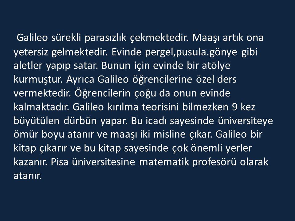 Galileo sürekli parasızlık çekmektedir