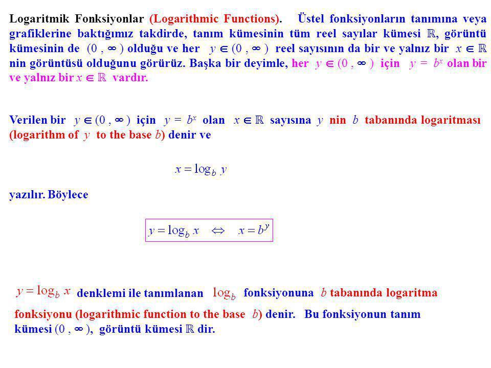 Logaritmik Fonksiyonlar (Logarithmic Functions)