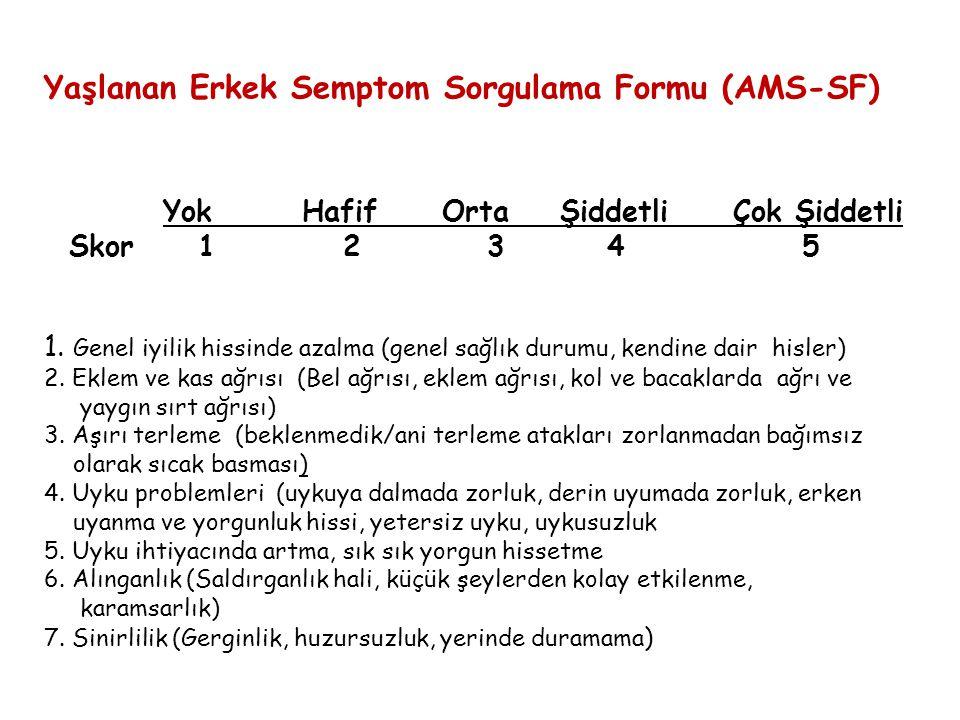 Yaşlanan Erkek Semptom Sorgulama Formu (AMS-SF)