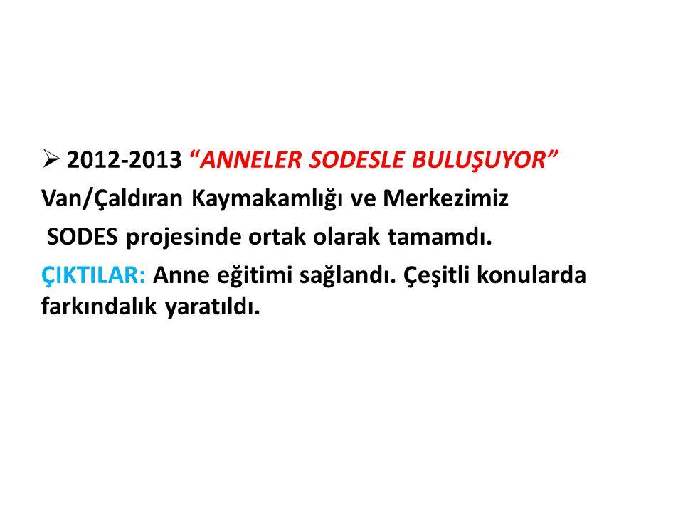 2012-2013 ANNELER SODESLE BULUŞUYOR