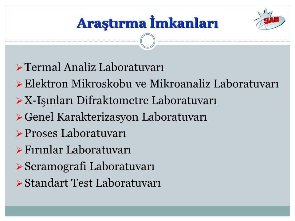Araştırma İmkanları Termal Analiz Laboratuvarı