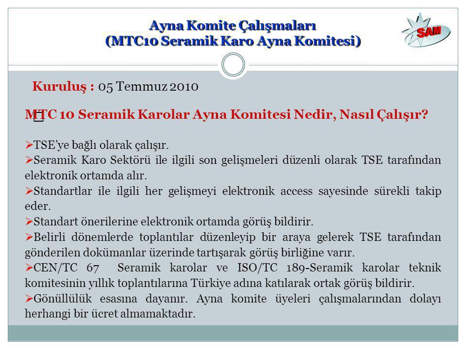 Ayna Komite Çalışmaları (MTC10 Seramik Karo Ayna Komitesi)