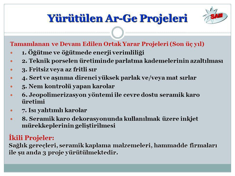 Yürütülen Ar-Ge Projeleri