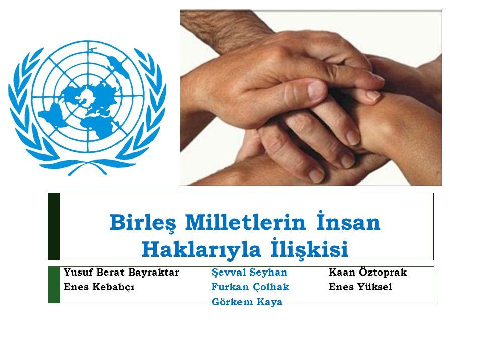 Birleş Milletlerin İnsan Haklarıyla İlişkisi