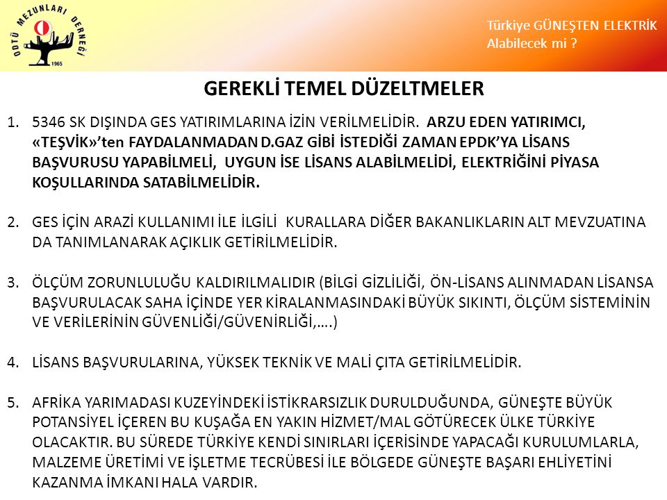GEREKLİ TEMEL DÜZELTMELER
