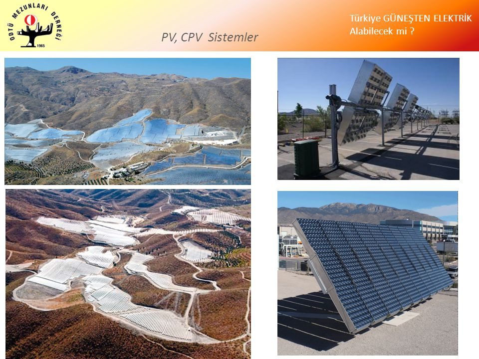 PV, CPV Sistemler