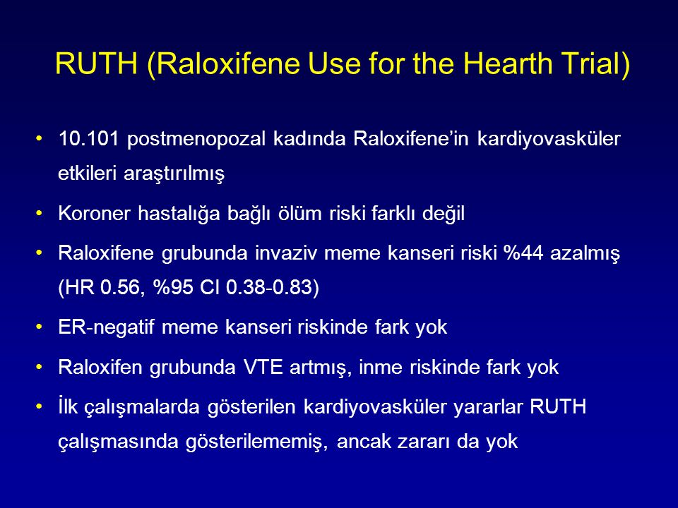 RUTH (Raloxifene Use for the Hearth Trial)