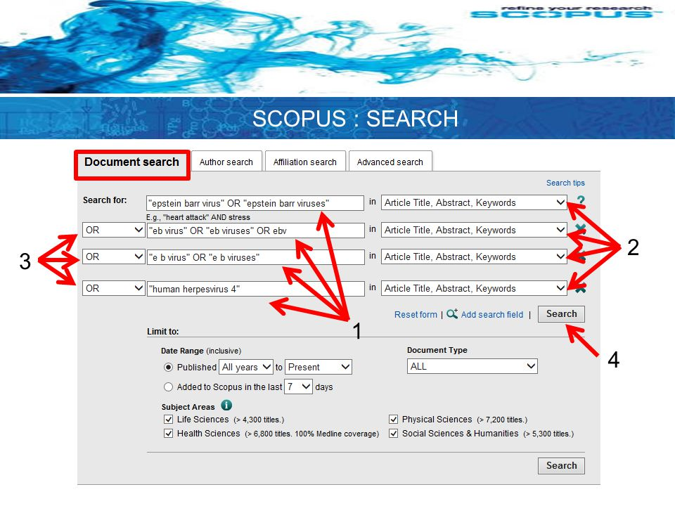 SCOPUS : SEARCH