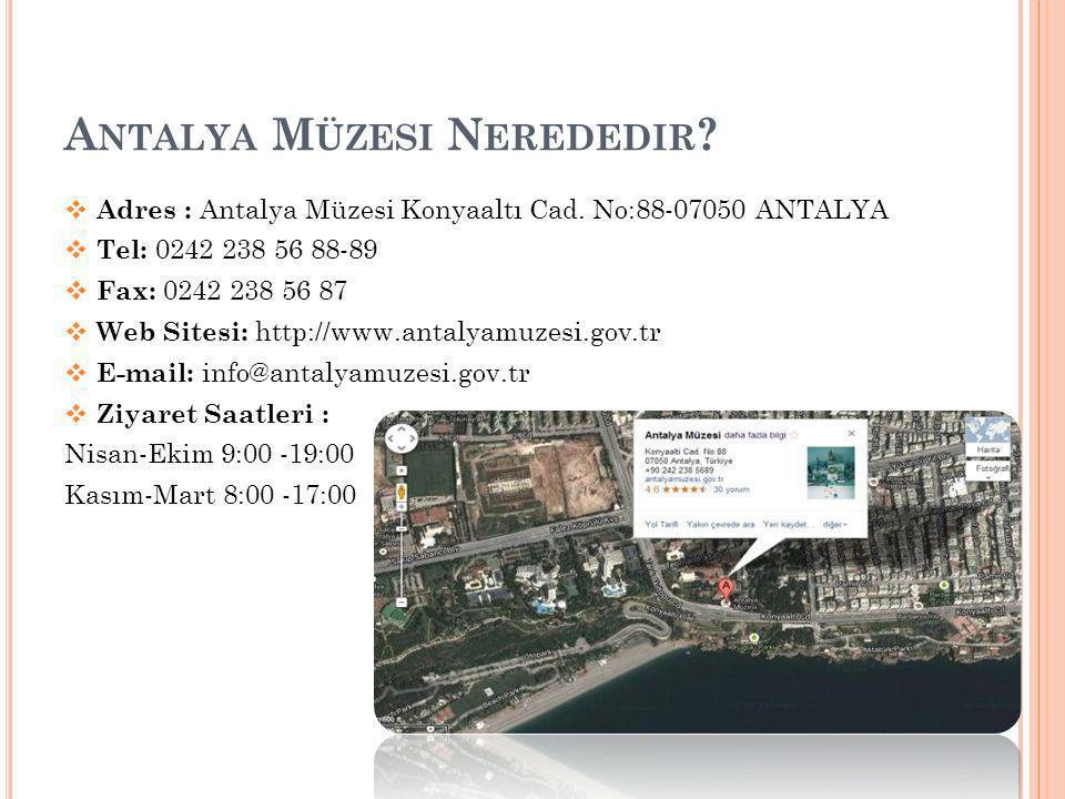 Antalya Müzesi Nerededir