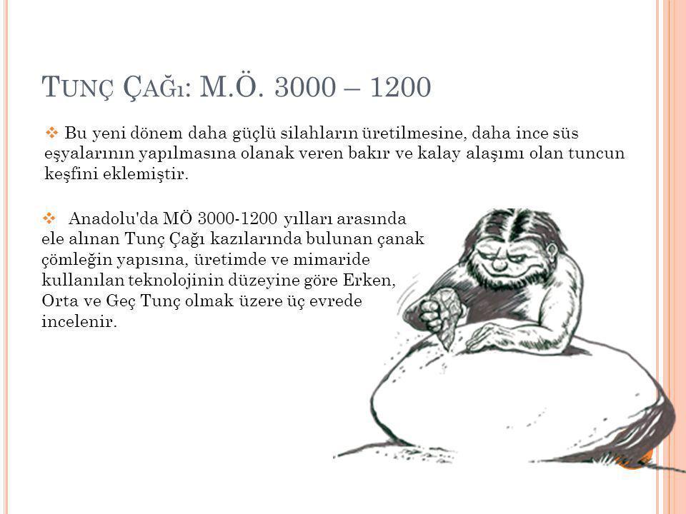 Tunç Çağı: M.Ö. 3000 – 1200