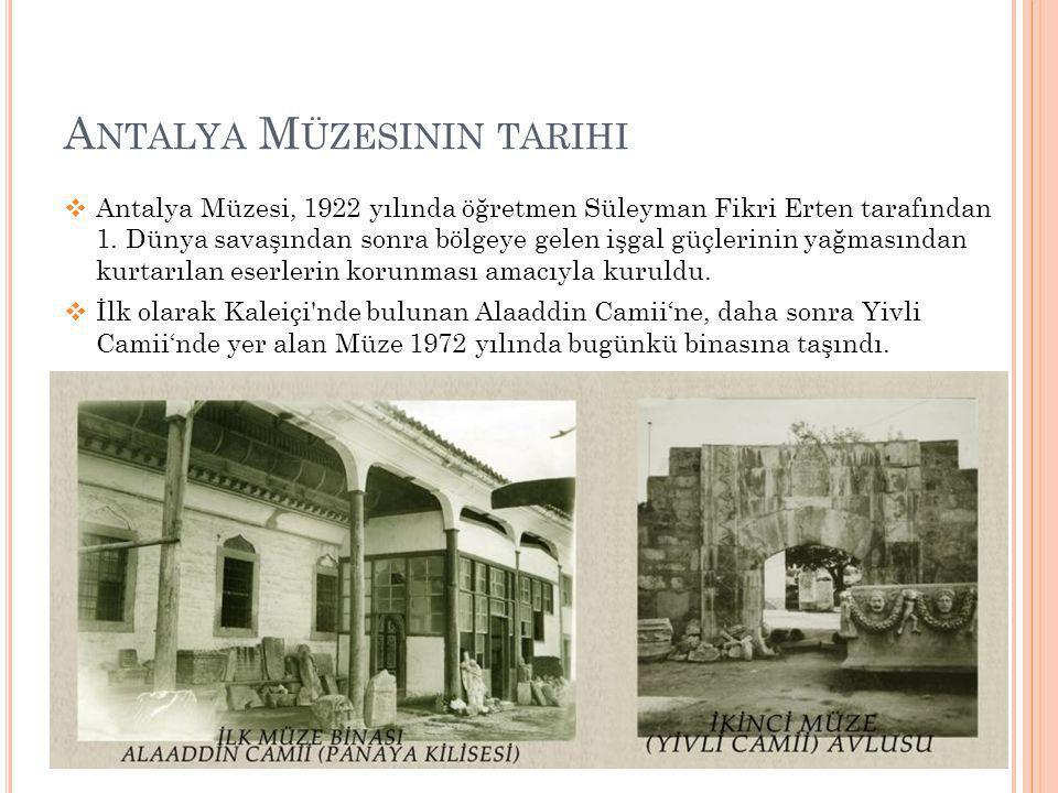 Antalya Müzesinin tarihi