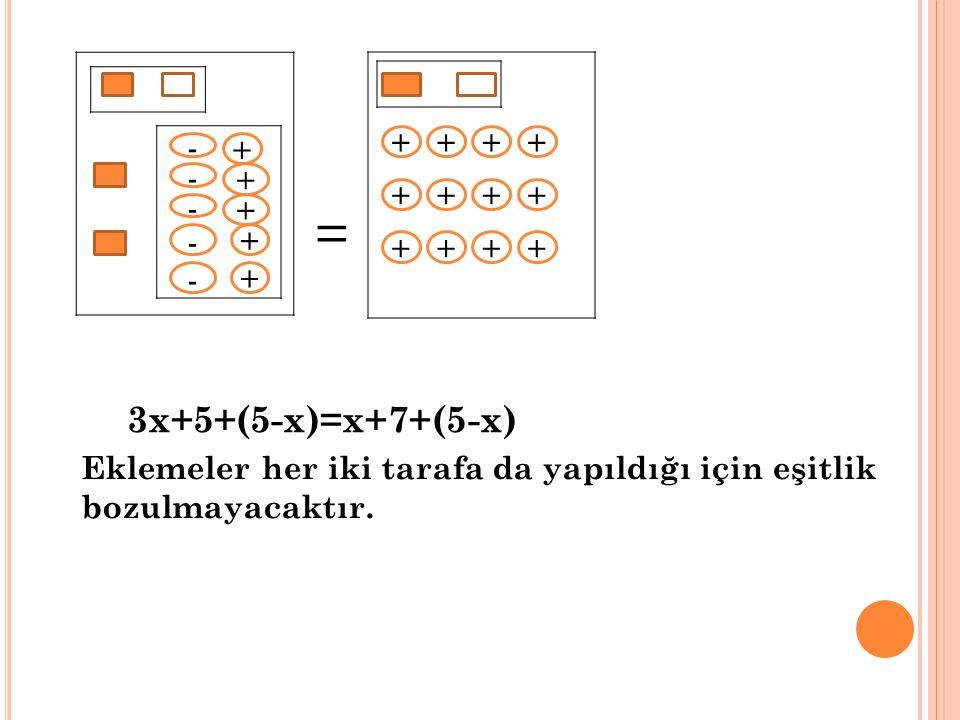 = - - - - - 3x+5+(5-x)=x+7+(5-x) + + + + + + + + + + + + + + + + +