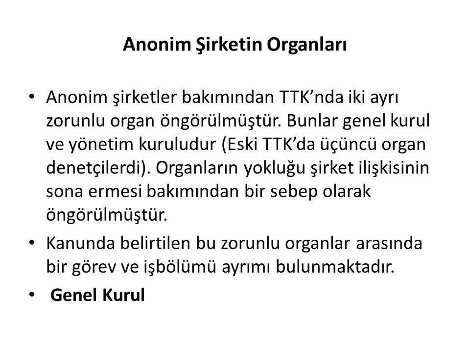 Anonim Şirketin Organları