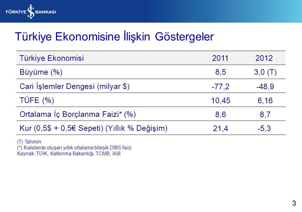 Türkiye Ekonomisine İlişkin Göstergeler