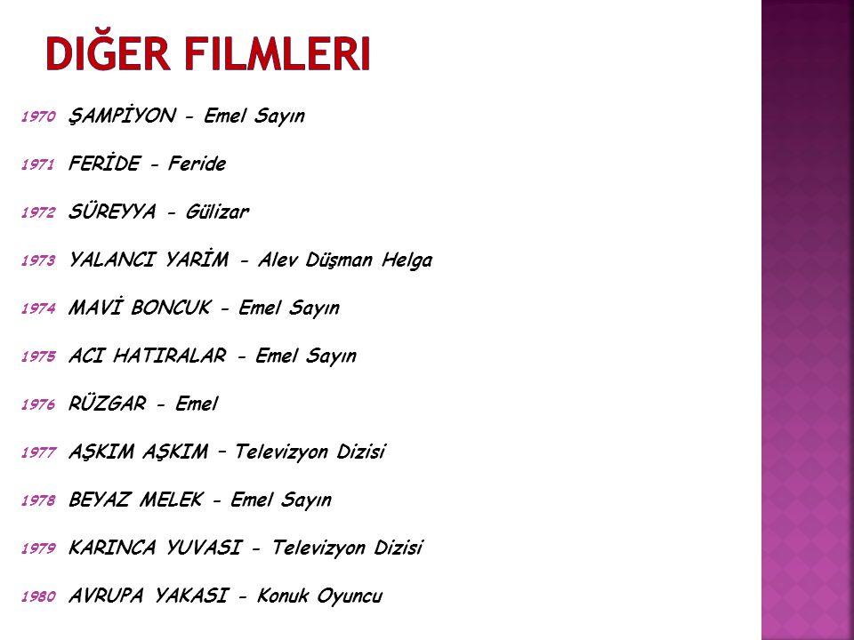 Diğer Filmleri ŞAMPİYON - Emel Sayın FERİDE - Feride SÜREYYA - Gülizar