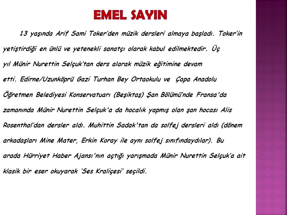 EMEL SAYIN
