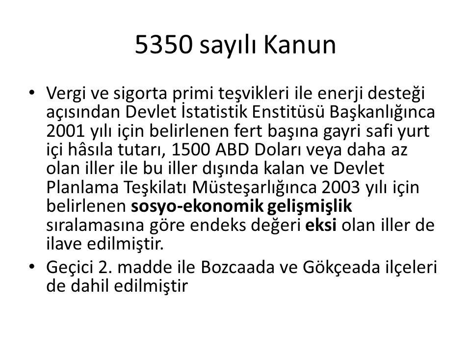 5350 sayılı Kanun
