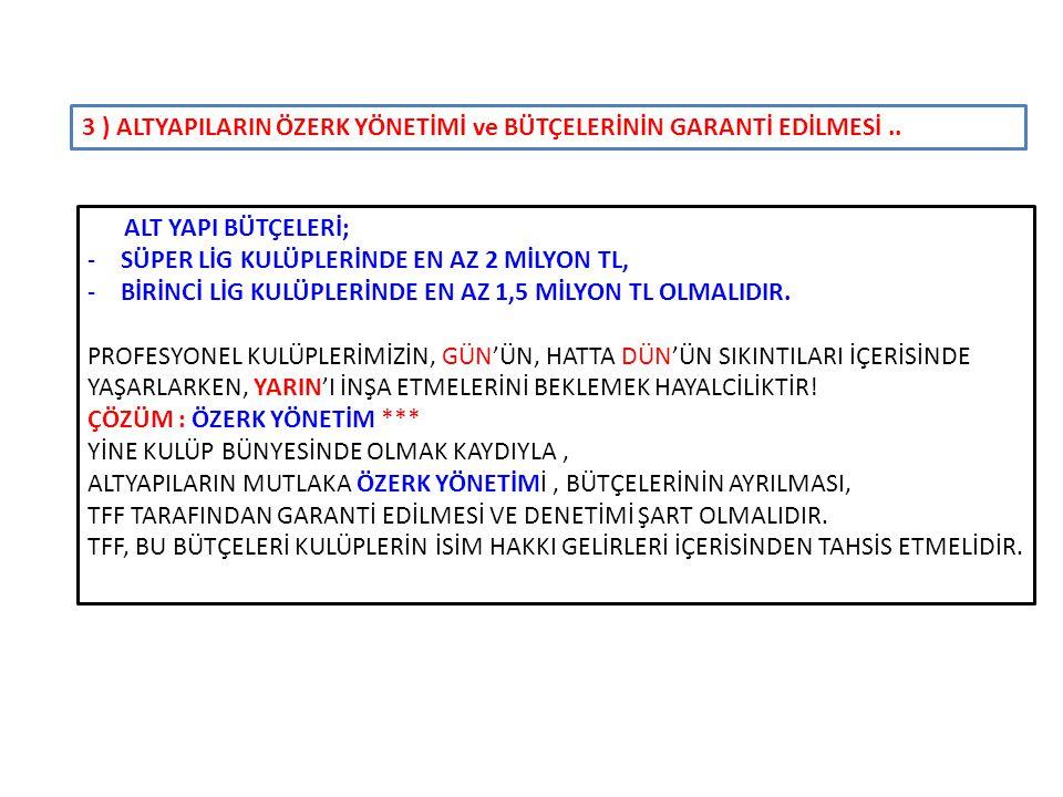 3 ) ALTYAPILARIN ÖZERK YÖNETİMİ ve BÜTÇELERİNİN GARANTİ EDİLMESİ ..