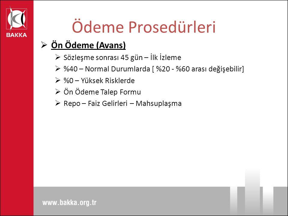 Ödeme Prosedürleri Ön Ödeme (Avans)