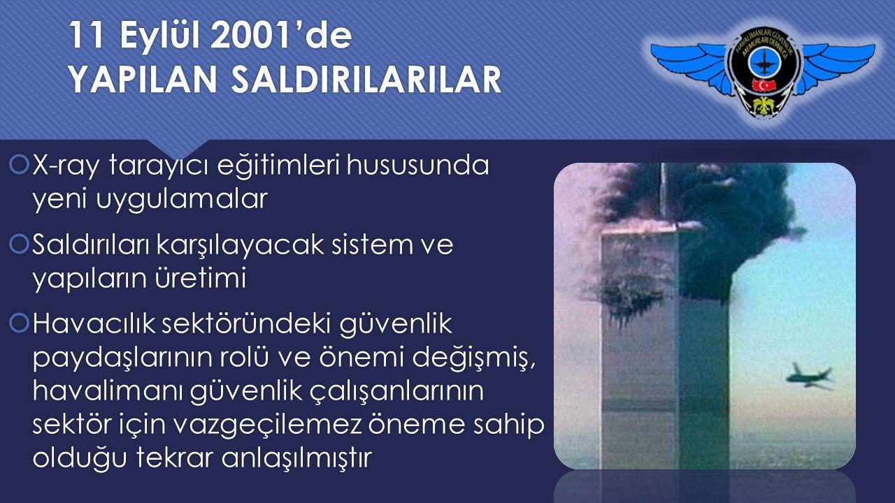 11 Eylül 2001'de YAPILAN SALDIRILARILAR
