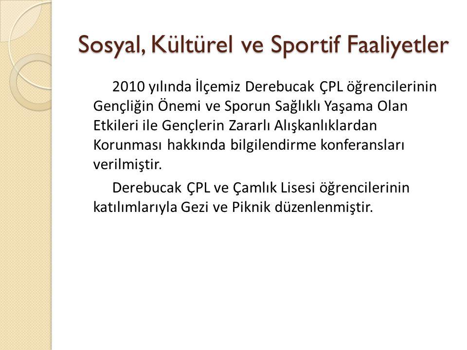 Sosyal, Kültürel ve Sportif Faaliyetler