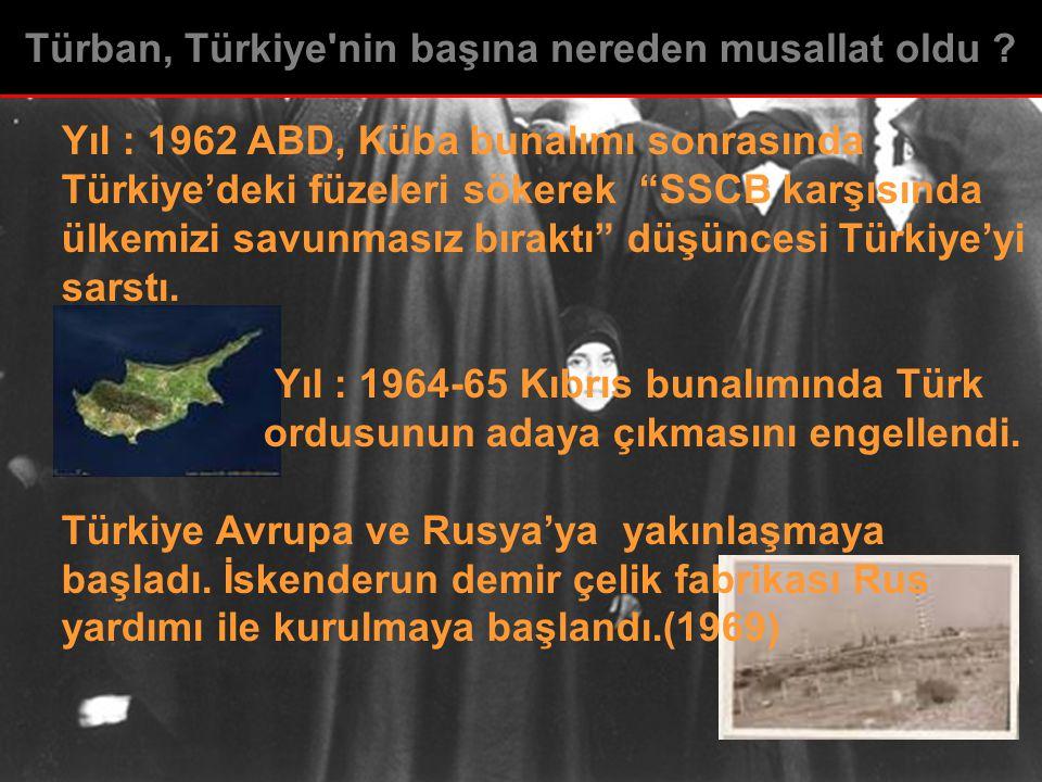 Türban, Türkiye nin başına nereden musallat oldu
