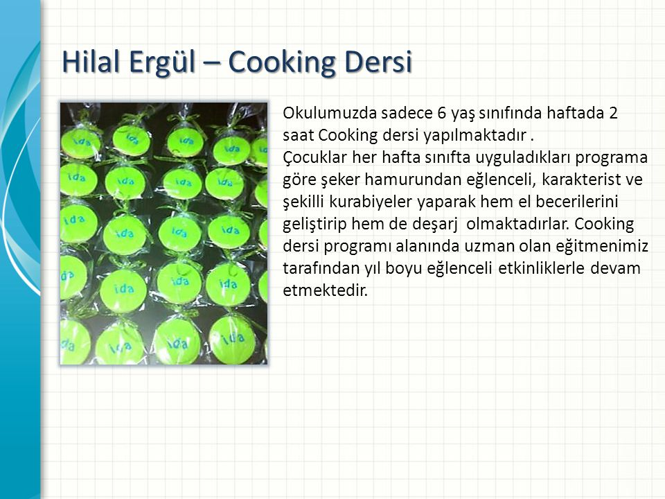 Hilal Ergül – Cooking Dersi