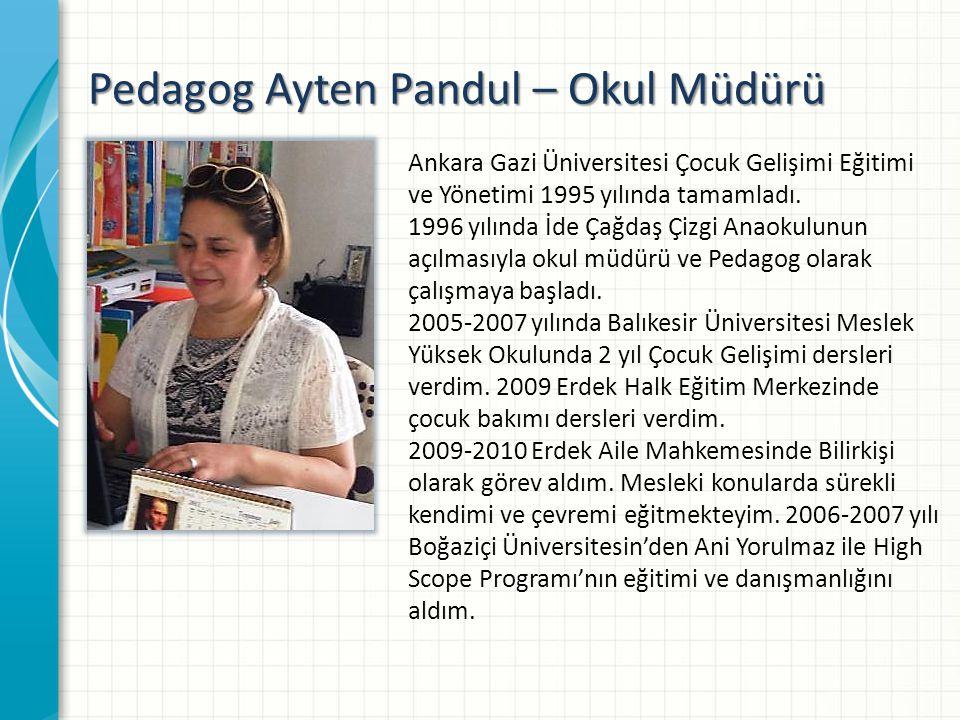 Pedagog Ayten Pandul – Okul Müdürü