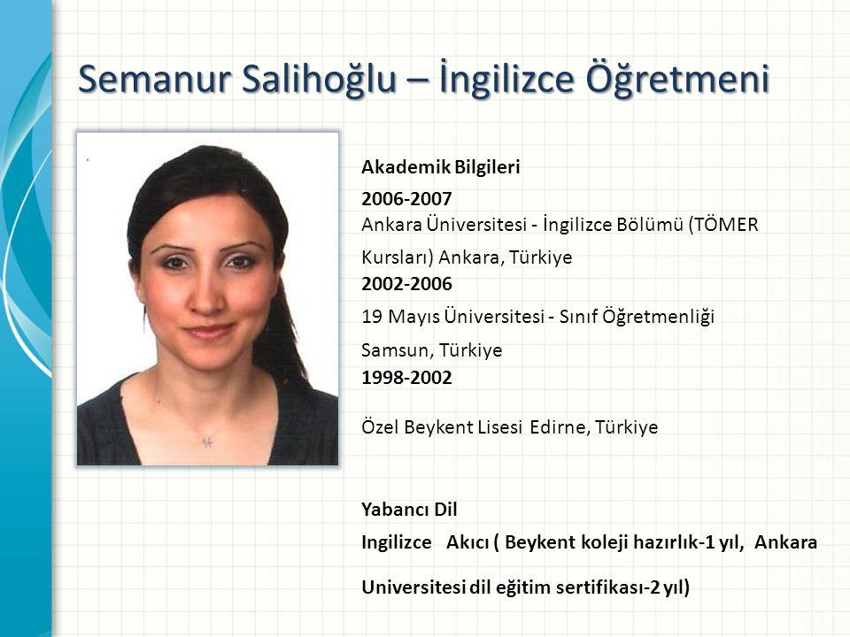 Semanur Salihoğlu – İngilizce Öğretmeni