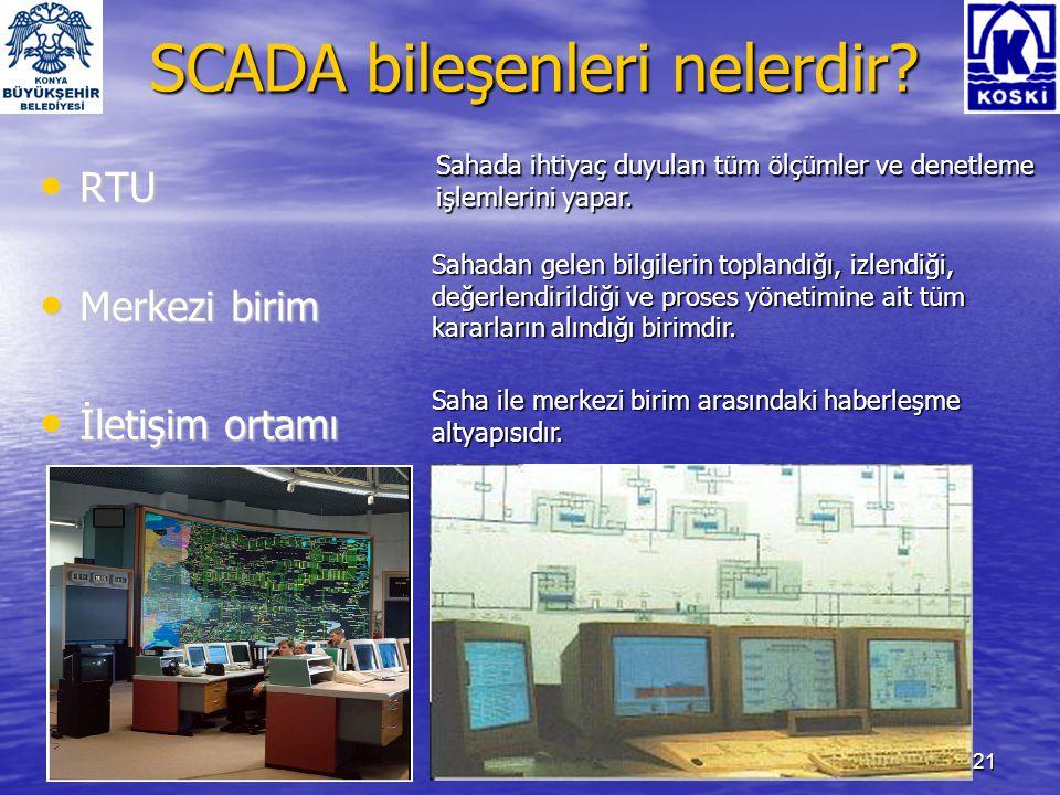 SCADA bileşenleri nelerdir