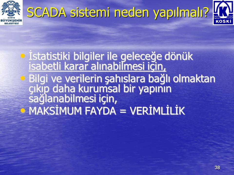 SCADA sistemi neden yapılmalı